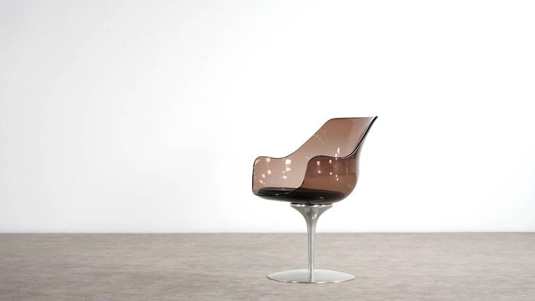 Mid-Century Modern Champagne Chair by Erwin & Estelle Laverne, 1962 for Formes Nouvelles For Sale