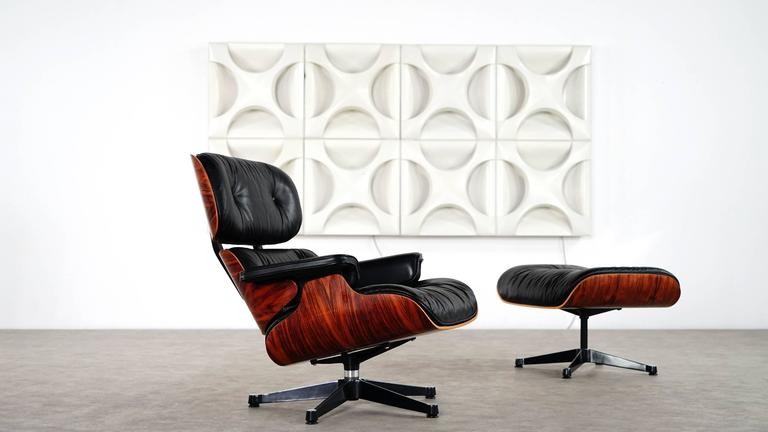 Vitra Chalres Eames : Vitra charles eames lounge chair and ottoman in rosewood by vitra