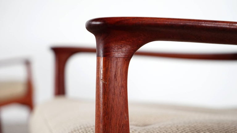 Mid-Century Modern Eugen Schmidt Two Teak Lounge Chair by Soloform, Germany, Handcrafted For Sale