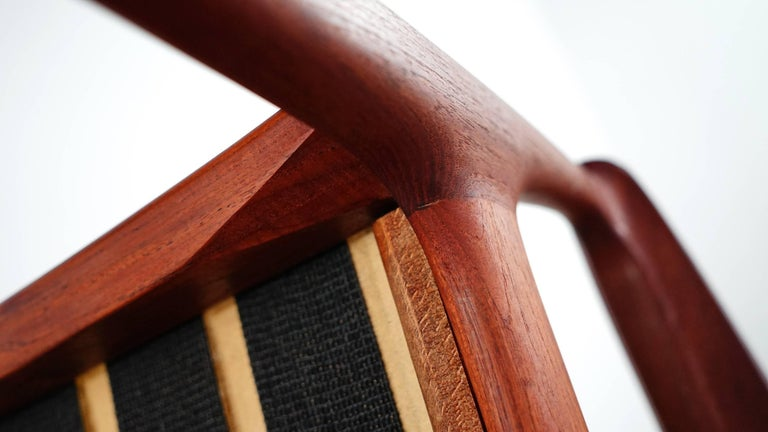 Eugen Schmidt Two Teak Lounge Chair by Soloform, Germany, Handcrafted For Sale 4