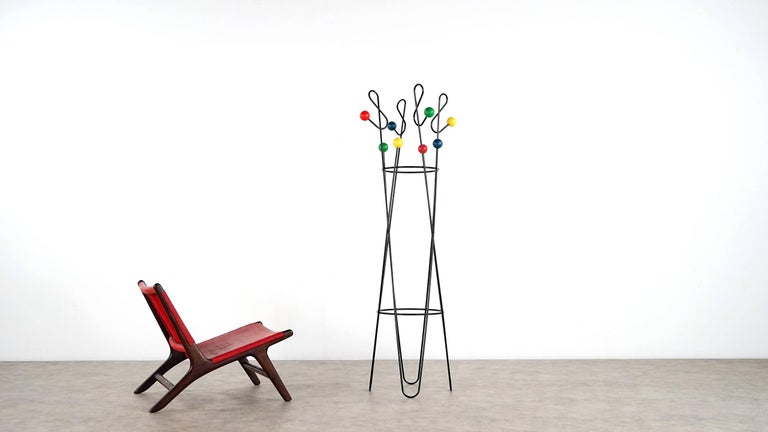 Mid-Century Modern Roger Ferraud 'Cle de Sol' Coat Stand / Hang it All eames, Paris, France 1960 For Sale