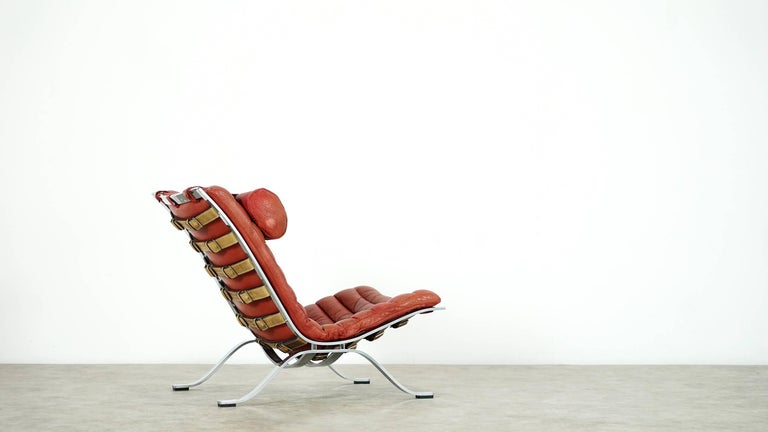 Arne Norell, Ari Lounge Chair and Ottoman, 1966 or Norell Möbel, Aneby Sweden For Sale 2