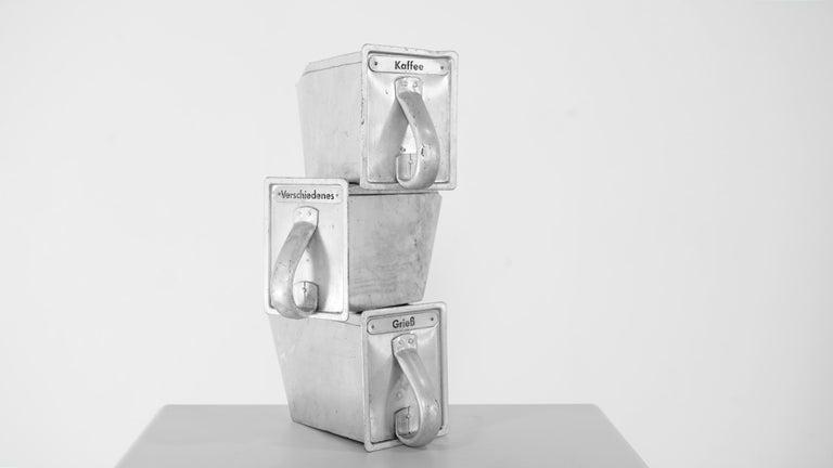 Bauhaus Frankfurter Küche 3 Aluminium Scoops by Margarete Schuette-Lihotzky, 1926 For Sale