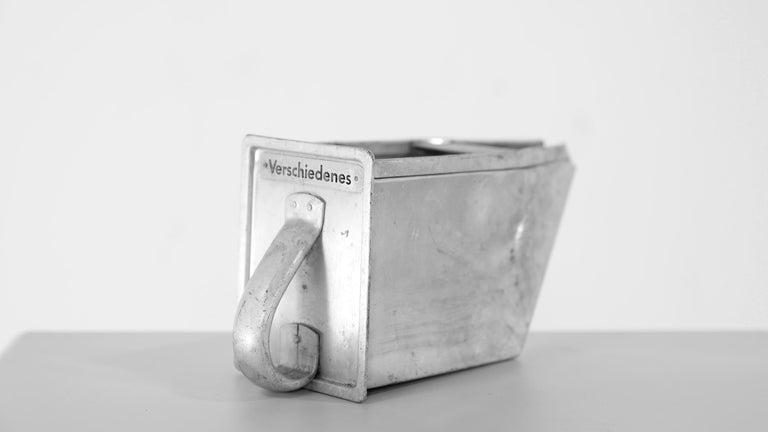German Frankfurter Küche 3 Aluminium Scoops by Margarete Schuette-Lihotzky, 1926 For Sale