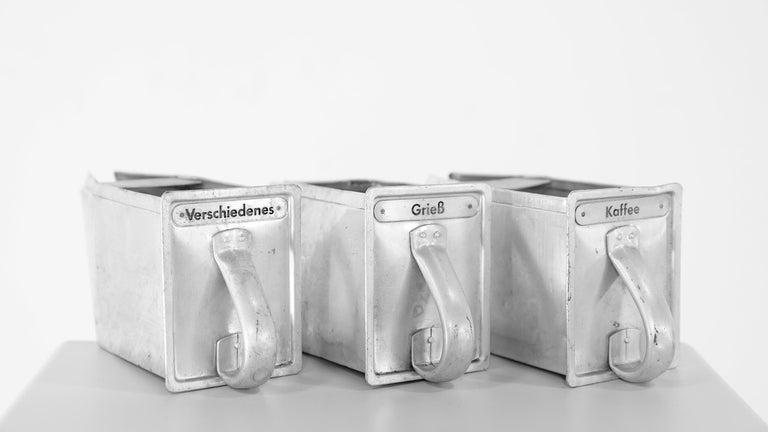 Aluminum Frankfurter Küche 3 Aluminium Scoops by Margarete Schuette-Lihotzky, 1926 For Sale