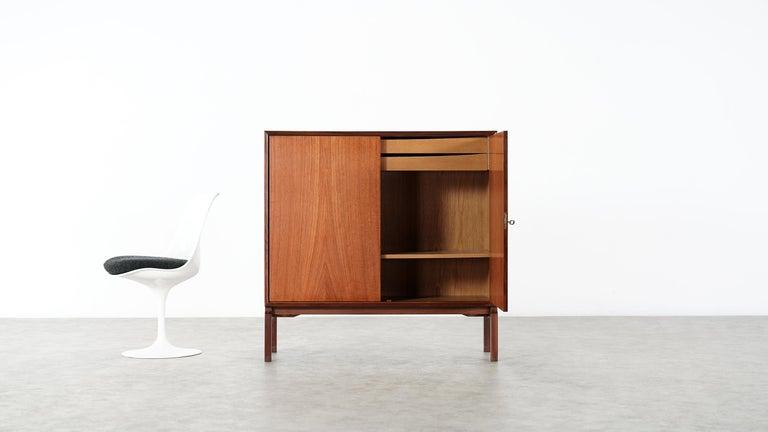 Mid-Century Modern Teak Sideboard, Denmark 1965 Chest Arne Vodder like Drawers Midcenturymodern For Sale