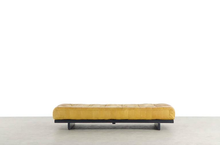De Sede DS80 Daybed and Sofa in Cognac Aniline Leather, 1969 10