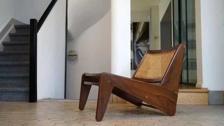 Pierre Jeanneret, Kangourou Lounge Chair in Sissoo Chandigarh, India, 1955 10
