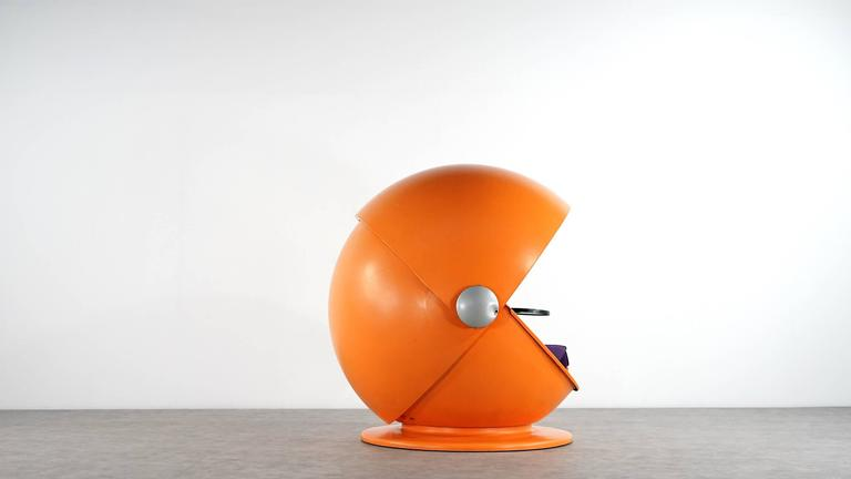 Mid-Century Modern Sunball Chair by Rosenthal, Design 1969 Selldorf & Rijs, Made in Germany For Sale