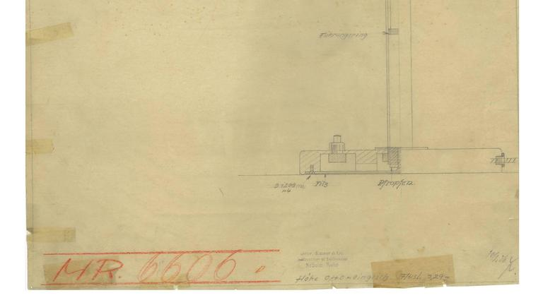 Print of the Original Christian Dell Drawing for Kaiser Idell, Bauhaus Lamp In Excellent Condition For Sale In Munster, NRW