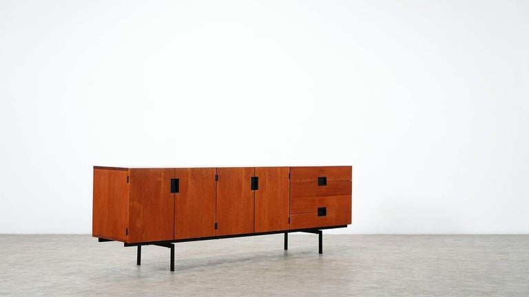 Minimalist sideboard designed by Cees Braakman for Pastoe, the Netherlands, 1958. 
