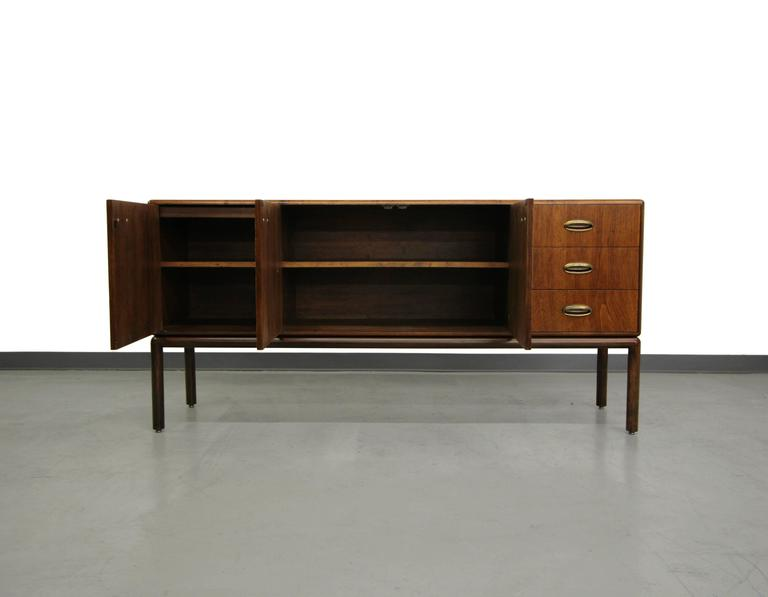 Gorgeous Mid Century Sideboard Buffet With Brass Handles