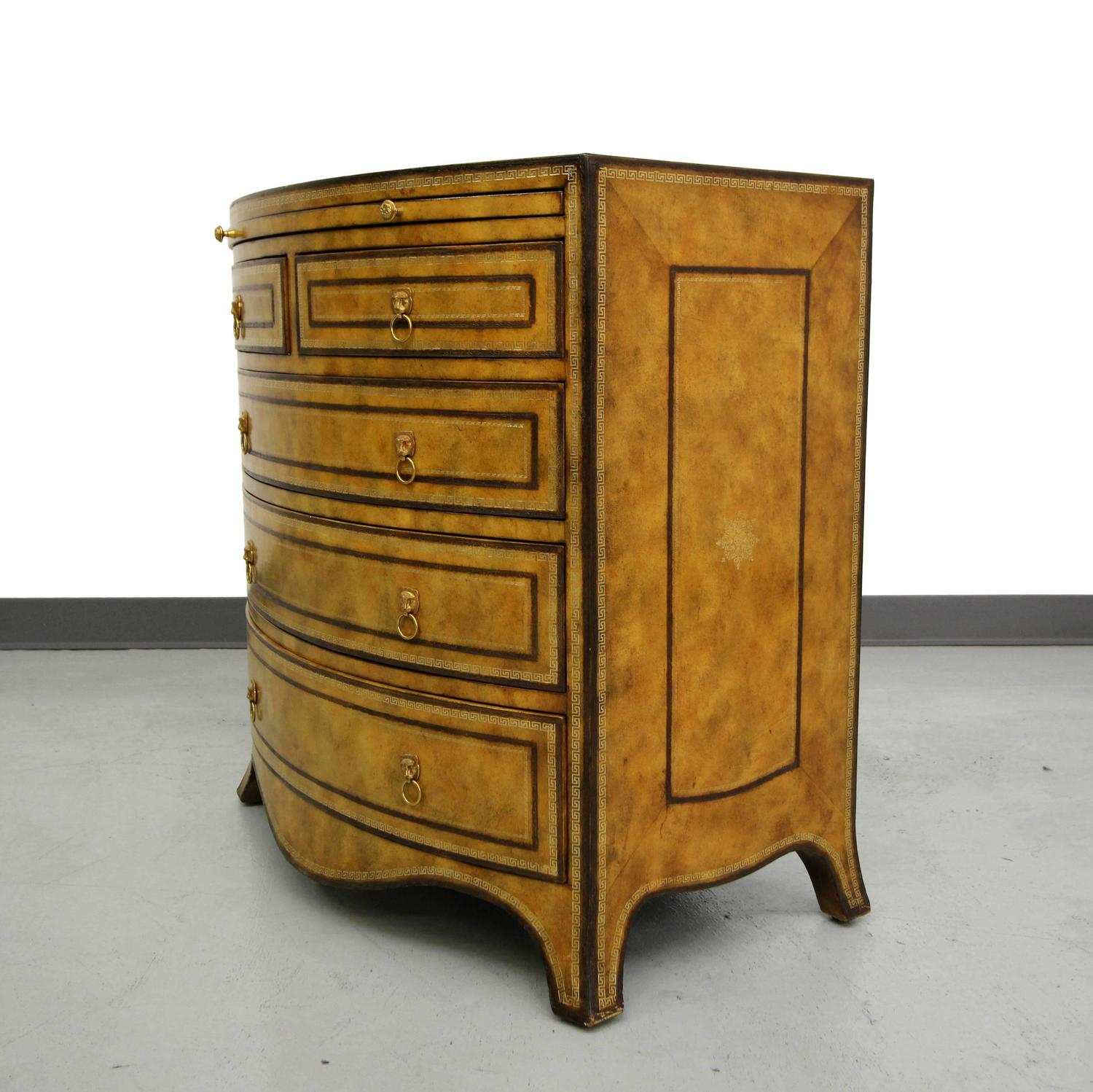 Leather Dressers And Chest Of Drawers ~ Petite bow front leather dresser chest by maitland smith