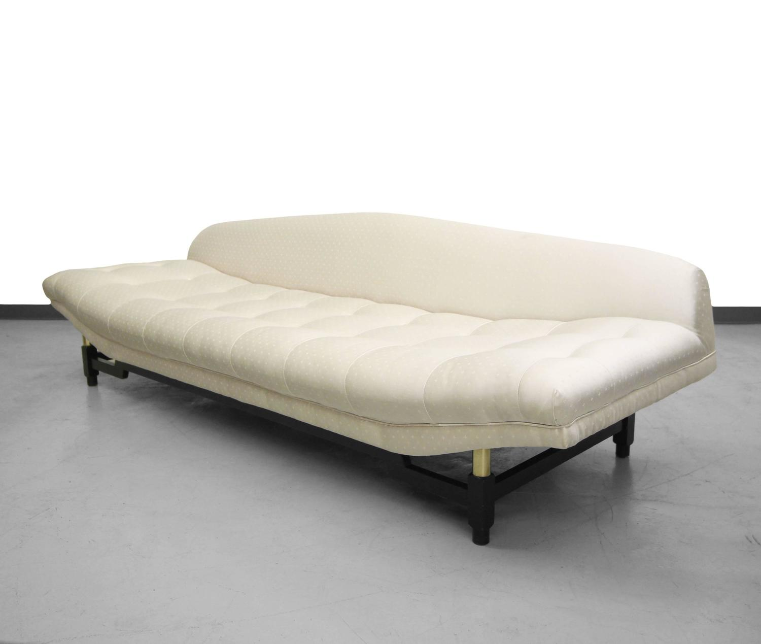 Mid Century Gondola Sofa: Mid-Century Gondola Sofa With Brass Details For Sale At