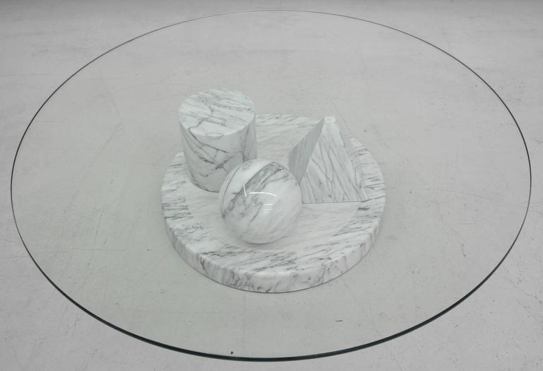 Solid Italian Marble Coffee Table by Massimo Vignelli for Casigliani 4