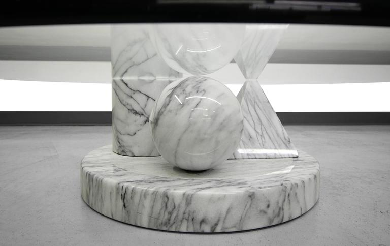 solid italian marble coffee table by massimo vignelli for casigliani for sale at 1stdibs. Black Bedroom Furniture Sets. Home Design Ideas