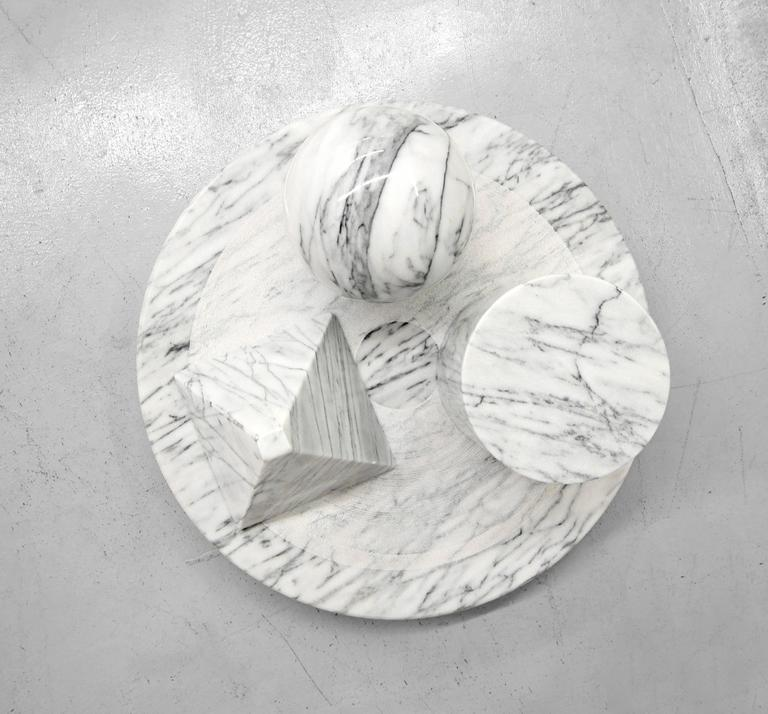 Solid Italian Marble Coffee Table by Massimo Vignelli for Casigliani 3