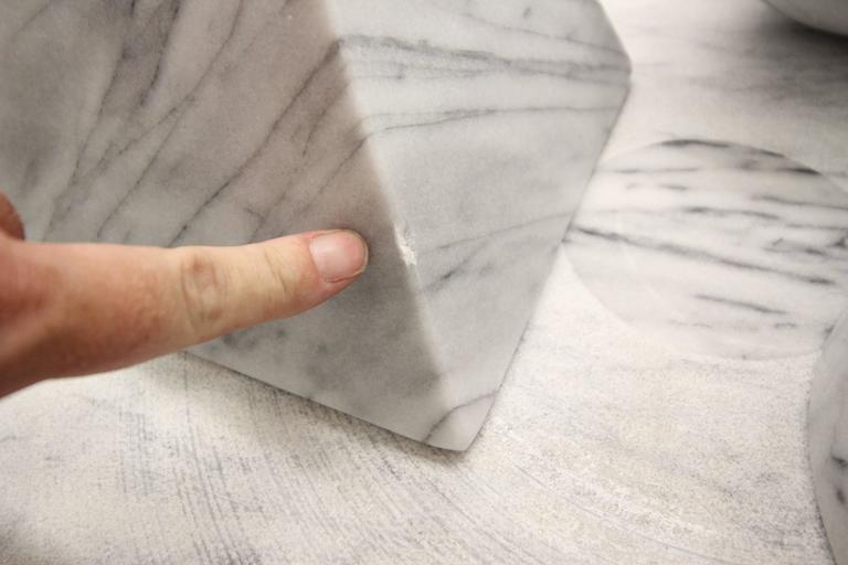 Solid Italian Marble Coffee Table by Massimo Vignelli for Casigliani 5
