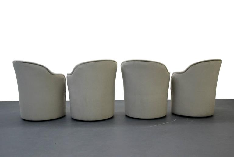 Set of Four Mid-Century Tulip Side Chairs by John Saladino for Dunbar 4