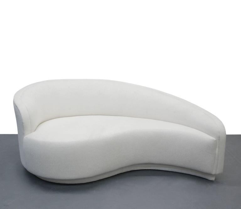 Petite Curved Sofa And Ottoman By Vladimir Kagan For