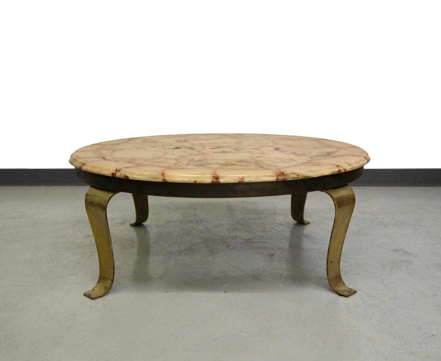 brass and onyx coffee table by muller onyx of mexico for sale at 1stdibs
