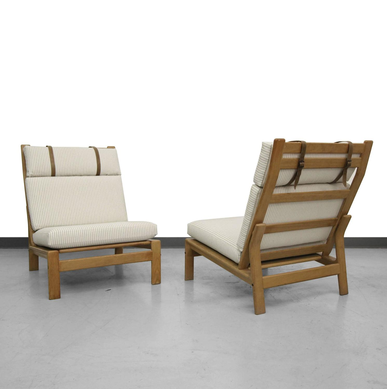 Pair of oversized danish lounge chairs by komfort design at 1stdibs - Designer couch modelle komfort ...