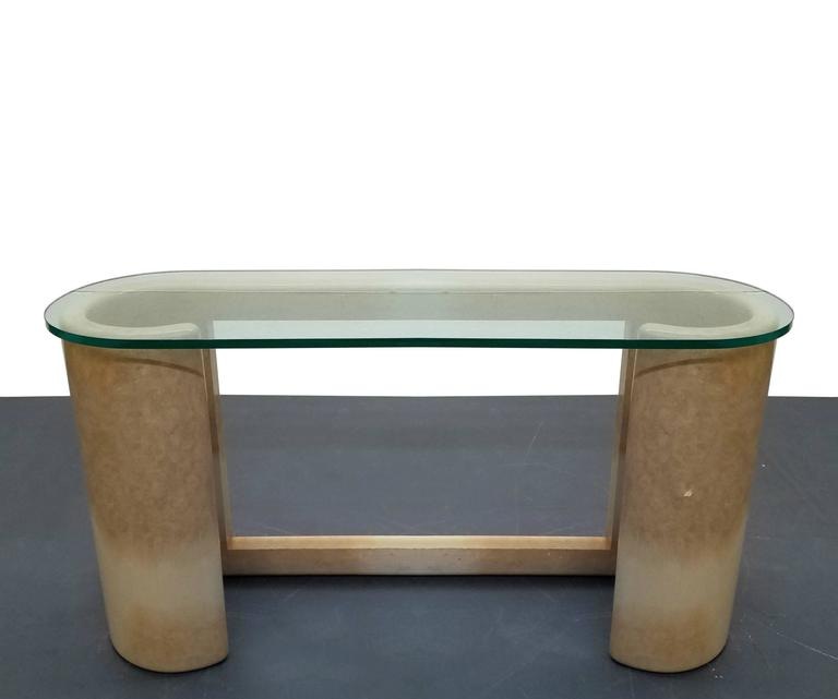 Foyer And Entryways Pub : Lacquered parchment console foyer entry bar table by