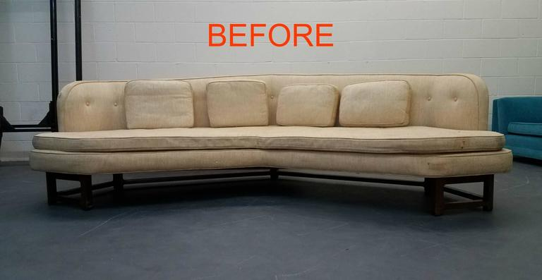 Large Mid-Century Janus Sofa by Edward Wormley for Dunbar For Sale 5