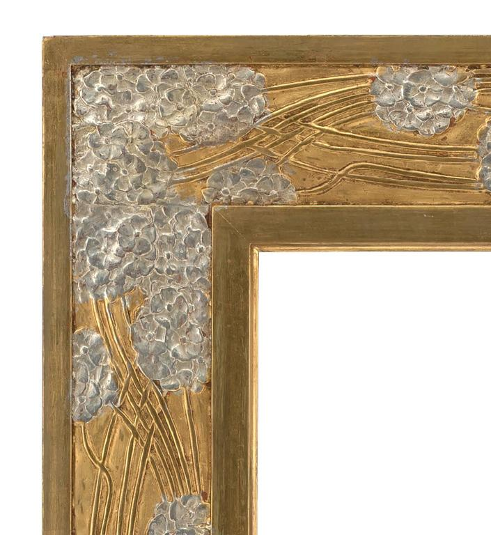 French Early 20th Century Art Nouveau Carved Mirror Frame For