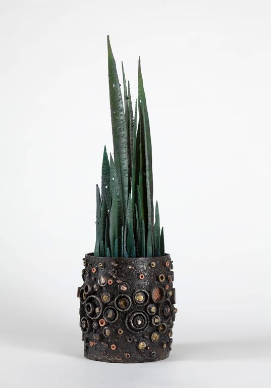Brutalist James Bearden Potted Plant Sculpture