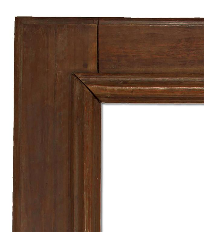 Hand-carved walnut mirror in the 18th Century Italian style. 29