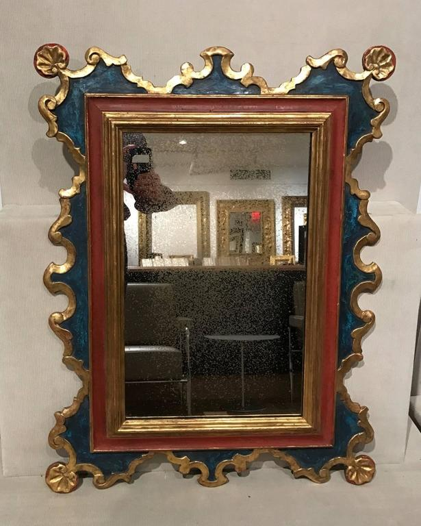 Spanish Style Carved and Gilt Mirror In Excellent Condition For Sale In New York, NY