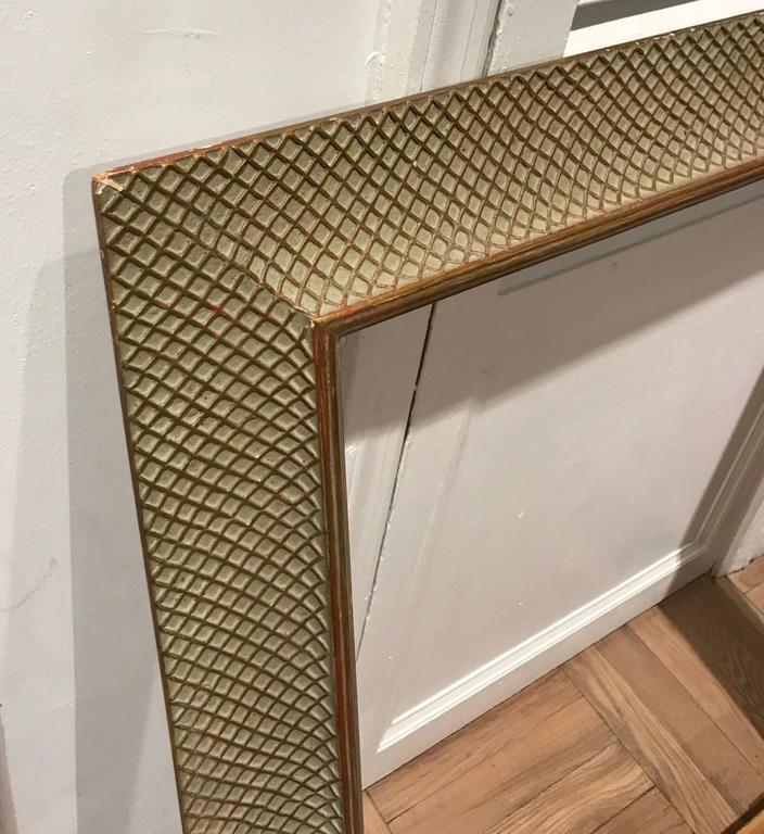 Modernist style basketweave pattern mirror, 28