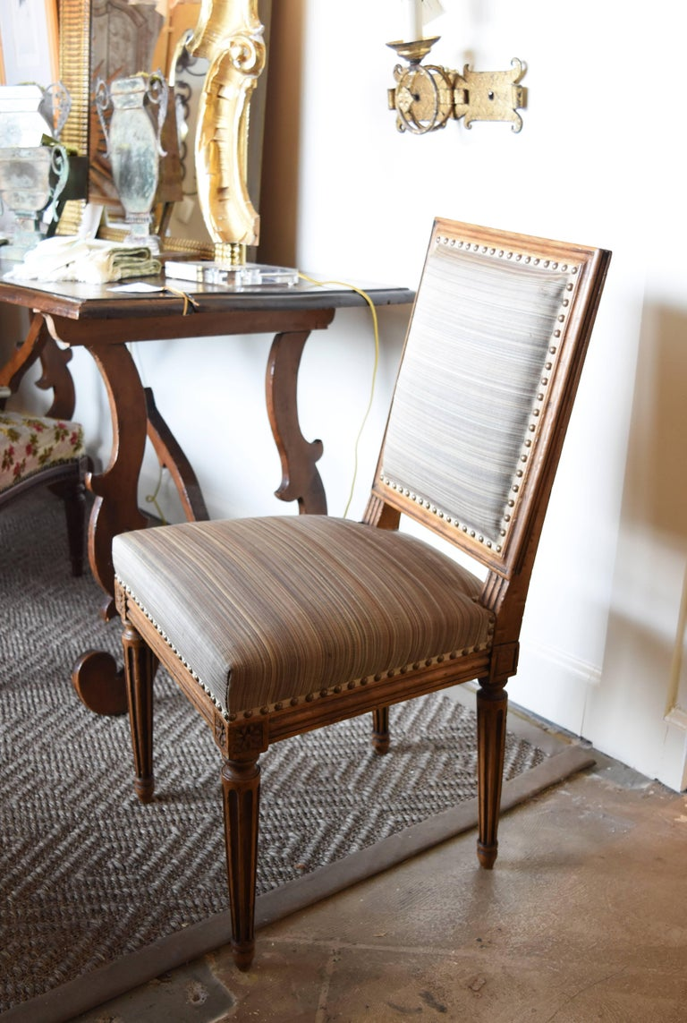 Set of Six 19th Century Louis XVI Style Walnut Chairs In Good Condition For Sale In Nashville, TN