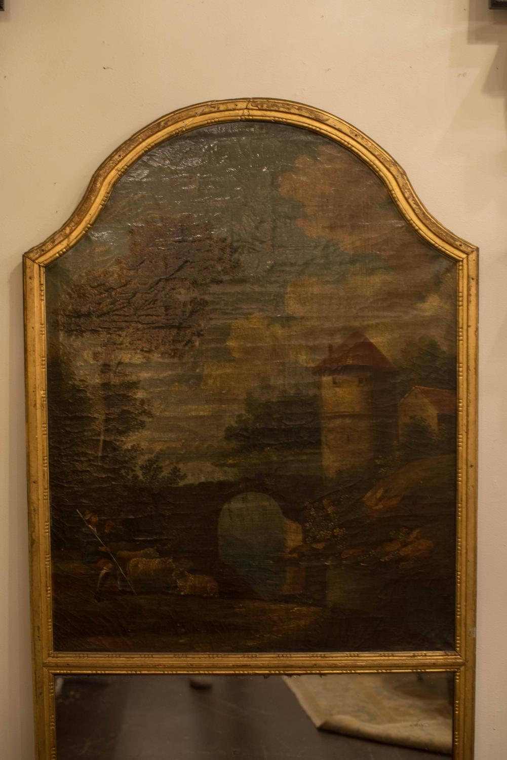 18th century french trumeau mirror at 1stdibs. Black Bedroom Furniture Sets. Home Design Ideas