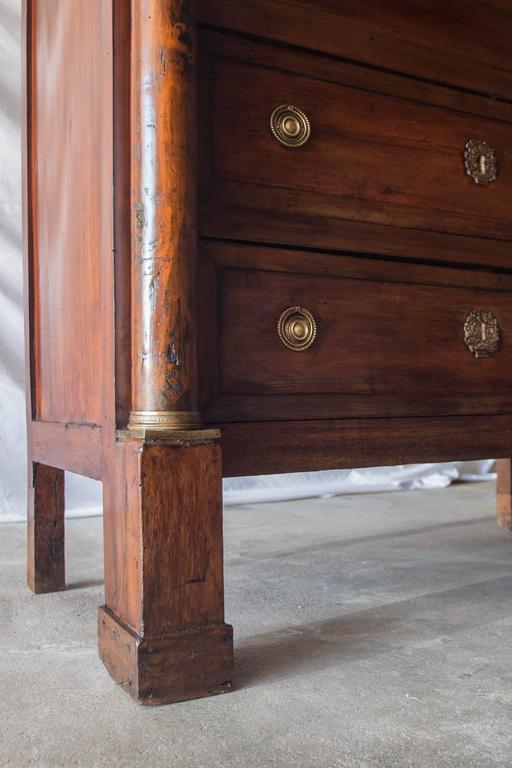 Marble 19th Century French Empire Secretaire For Sale