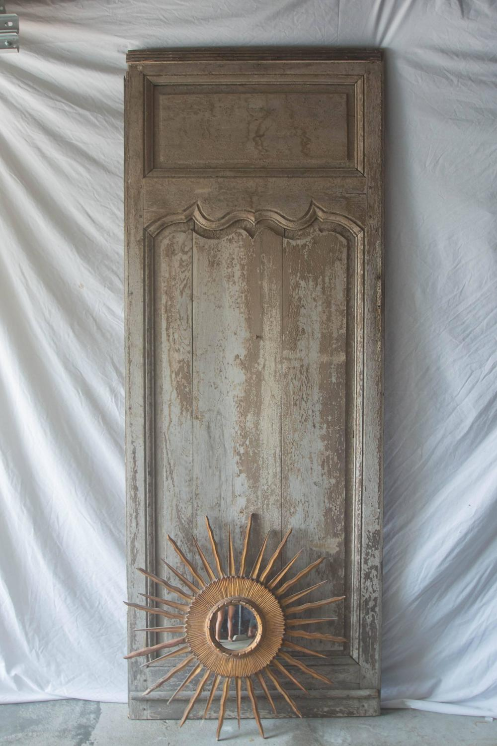 18th Century French Panel Or Door With Soleil For Sale At