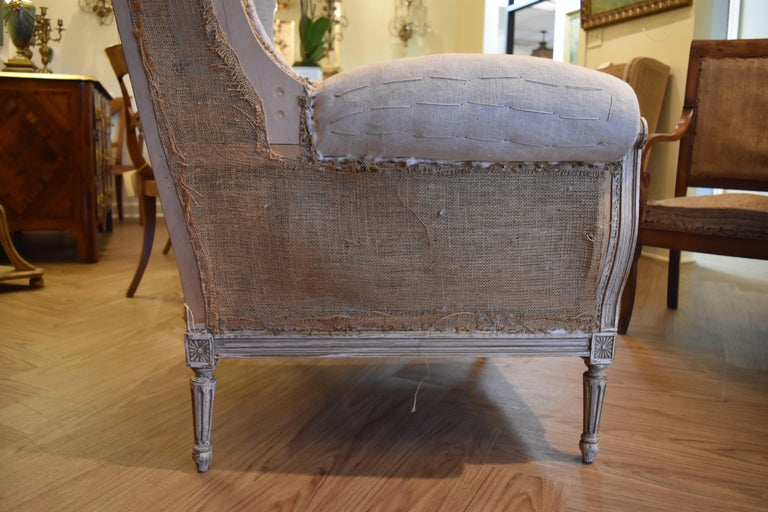 Pair of 19th Century Louis XVI Style Wingback Chairs 6