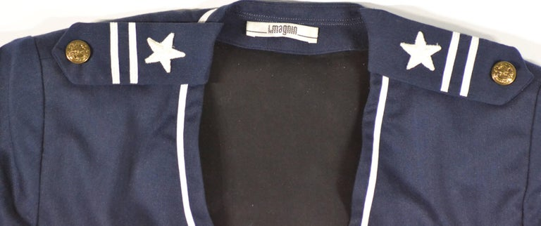 Vintage Blue Officers Type Nautical Coat For Sale at 1stdibs