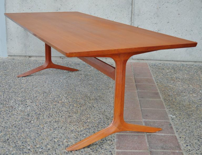 Rare Teak Silver Line Coffee Table by Hvidt & Mølgaard-Nielsen In Excellent Condition For Sale In New Westminster, British Columbia