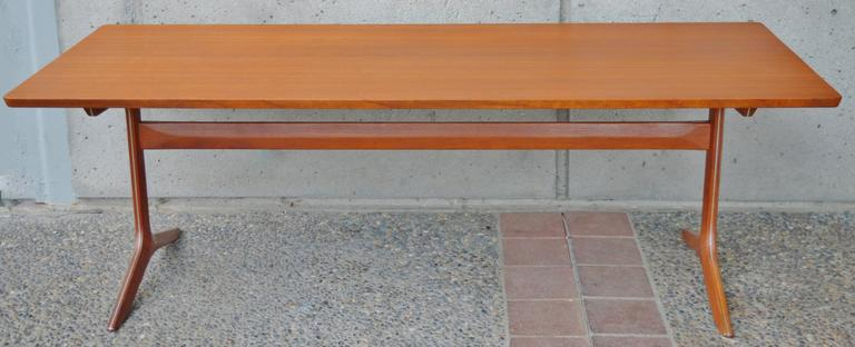 Mid-20th Century Rare Teak Silver Line Coffee Table by Hvidt & Mølgaard-Nielsen For Sale