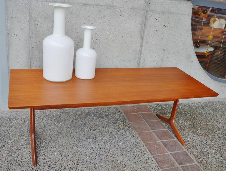 Rare Teak Silver Line Coffee Table by Hvidt & Mølgaard-Nielsen 3