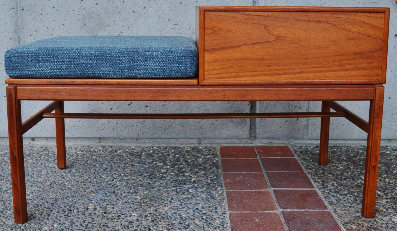 Foyer Bench For Sale : Sweet upholstered teak entry bench sven engström gunnar