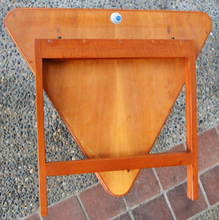 Pair of Danish Teak Illum Wikkelsø Folding Coffee or Side Tables for Silkeborg For Sale 2