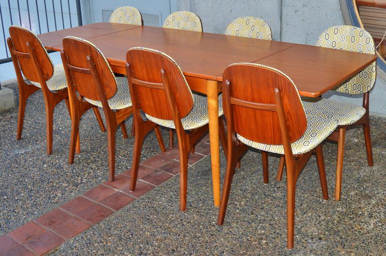 set of eight arne teak dining chairs 2