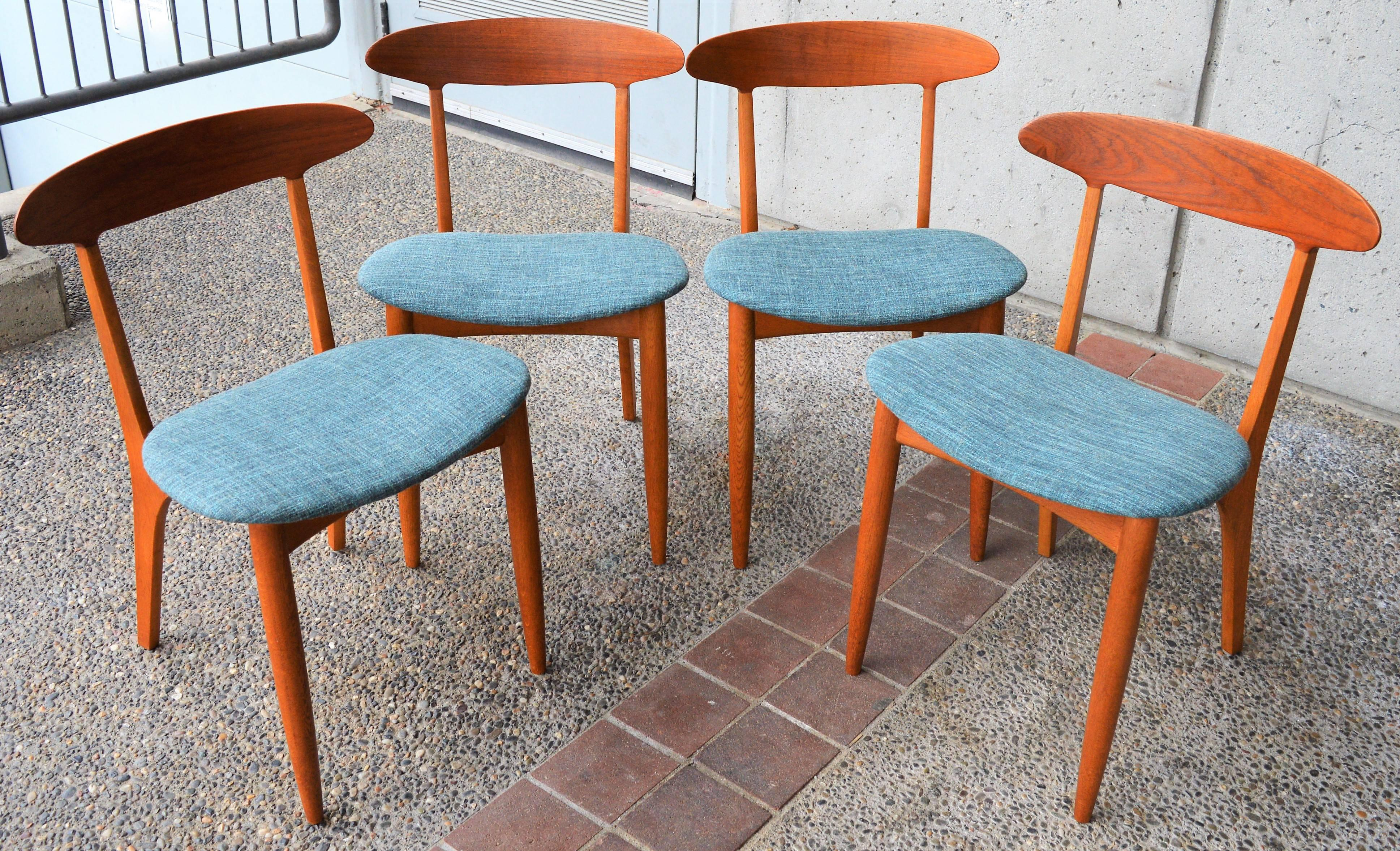 Four Dining Chairs by Kurt Ostervig, Danish Modern For Sale at 1stdibs