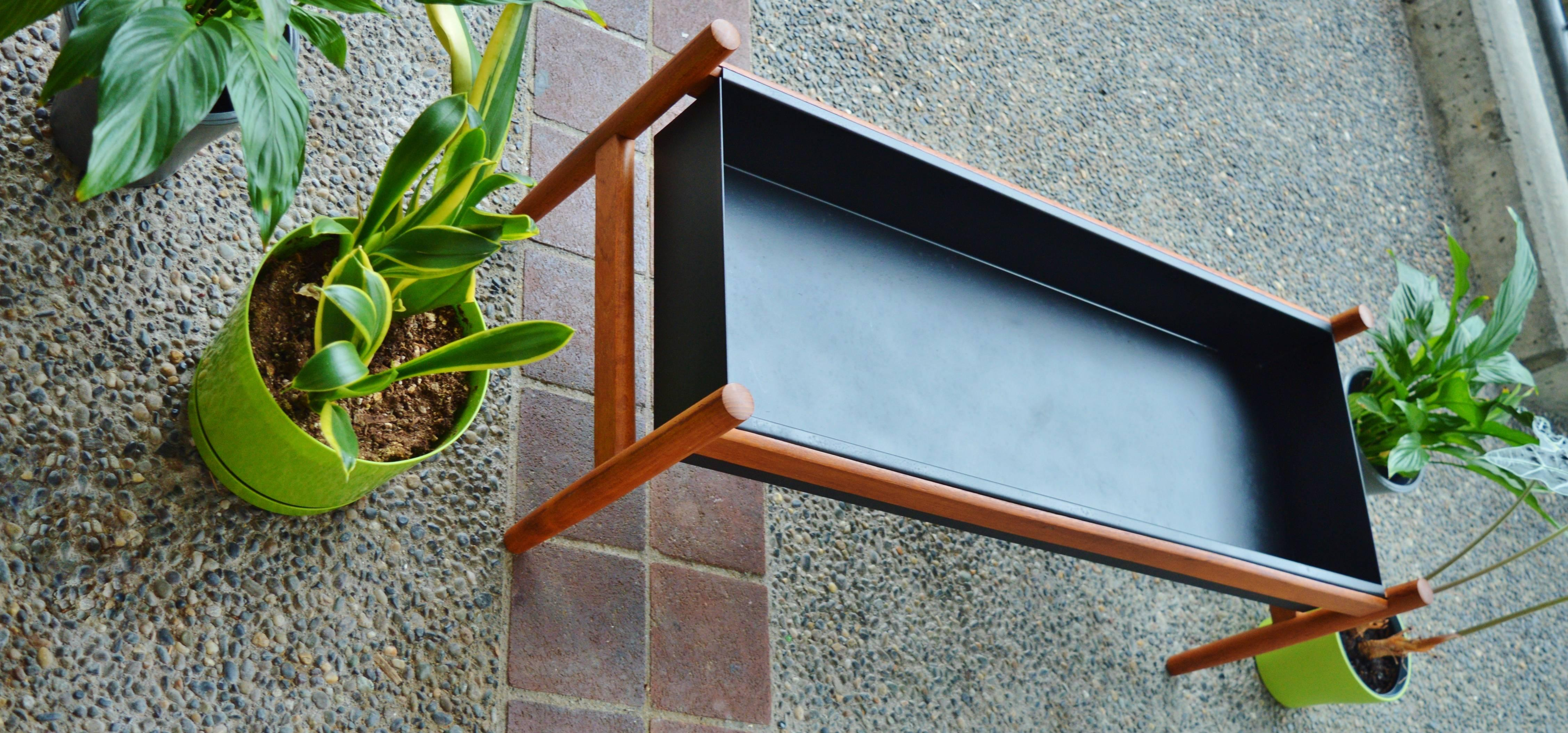 Large Teak and Aluminium Planter by Spottrup, Denmark For Sale at ...