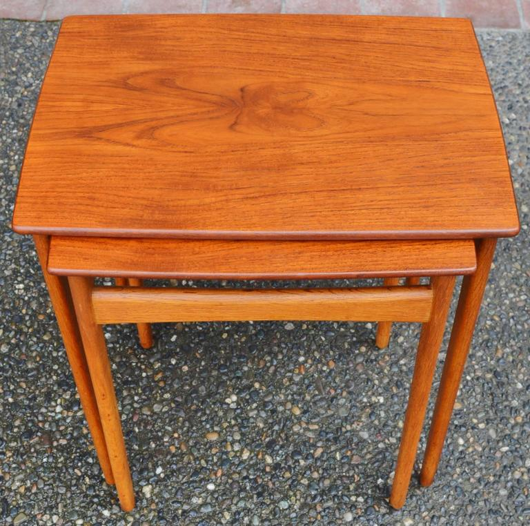 pair of svend madsen teak and oak nesting tables at 1stdibs