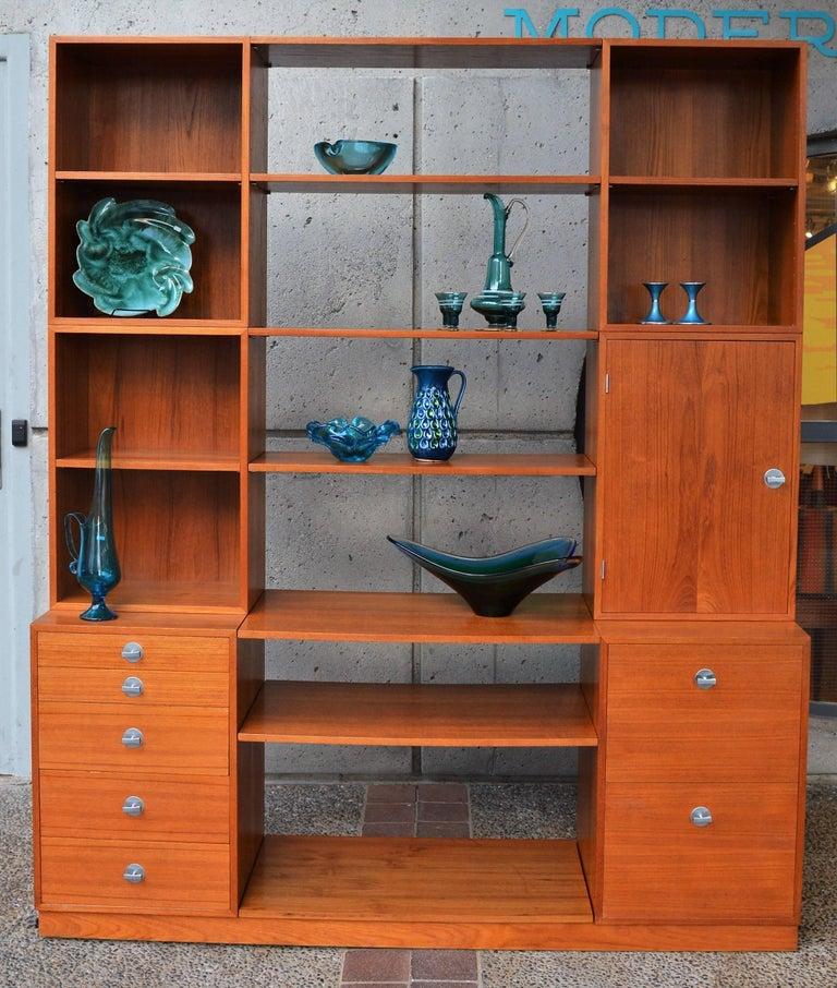 Danish Finn Juhl Modular Teak Wall Unit / Office Shelving for France & Son For Sale