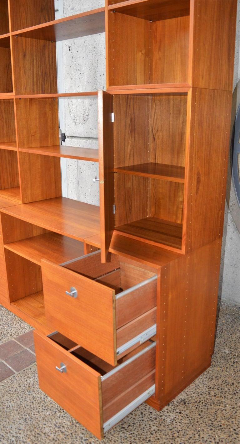 Mid-20th Century Finn Juhl Modular Teak Wall Unit / Office Shelving for France & Son For Sale